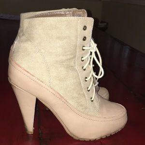 Shoes - Canvas Bootie